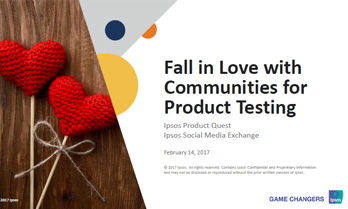 Fall in Love with Online Communities for Product Testing