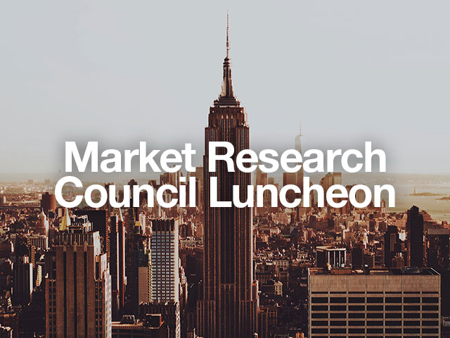 market research luncheon cover