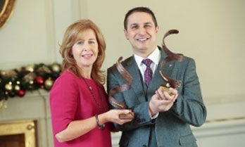 Tarik Laher, Director pictured (right) accepting the awards with Fiona Rafferty, Nutricia Ireland