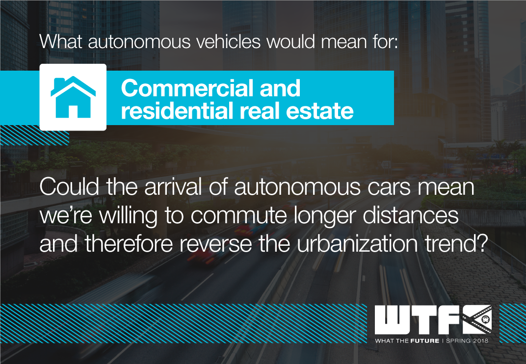 What autonomous vehicles would mean for: Commercial and Residential Real Estate