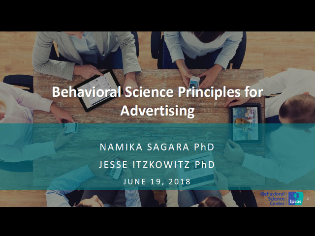 Behavioural Science Principles for Better Digital Advertising title slide