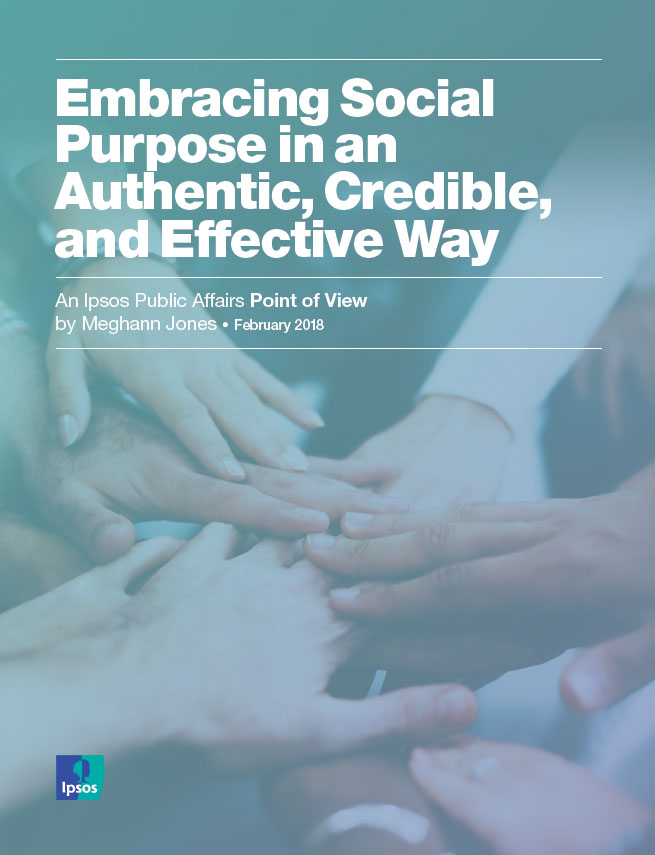 Ipsos PA - Embracing Social Purpose in an Authentic, Credible and Effective Way