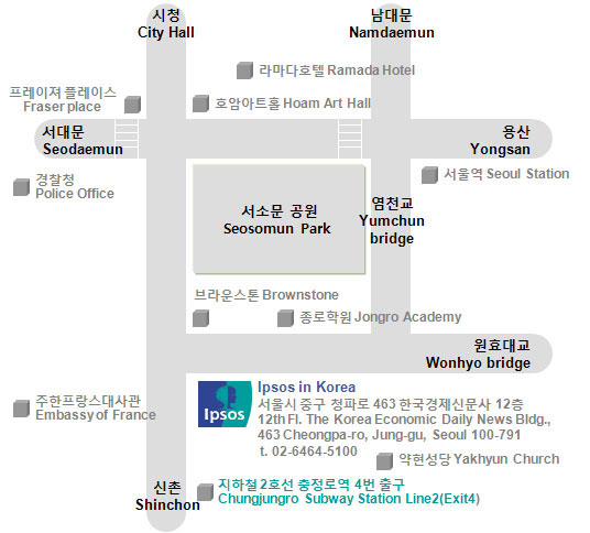 Korean office access map