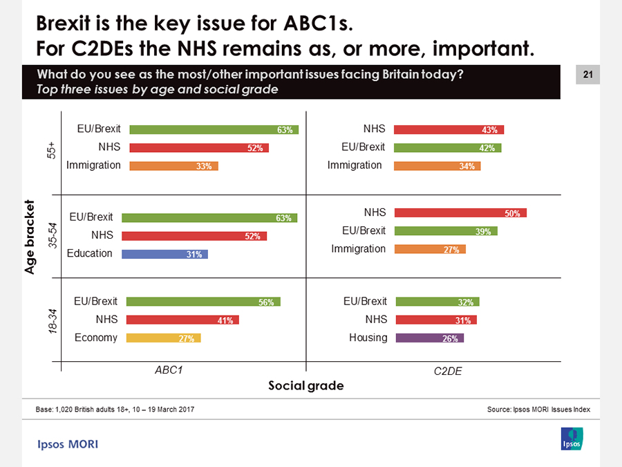 Brexit the key issue for ABC1s