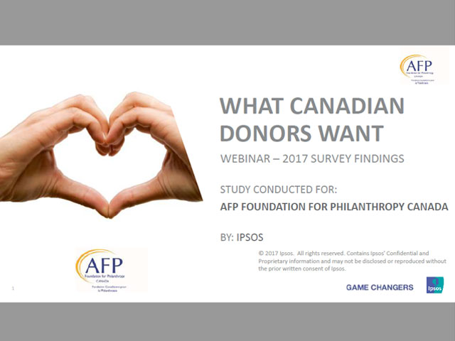 Ipsos - What Canadian donors want