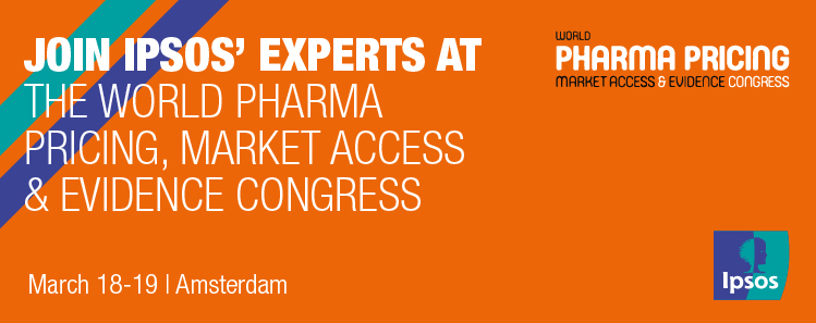 Ipsos participating in the World Pharma Pricing & Market Access Congress