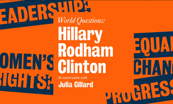 World questions | Hillary Rodham Clinton | Global Institute for Women's leadership | Ipsos