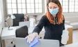 Woman cleaning the office | Covid-19 myths | ESSENTIALS | Ipsos