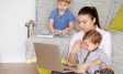 woman trying to work from home with kids | quarantine life | coronavirus pandemic | Ipsos
