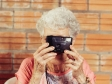 granny taking picture