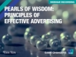 Pearls of Wisdom: Principles of effective advertising