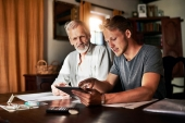 Father and son | Are you better off than your parents were? | Ipsos | Global Advisor | Money | Retirement