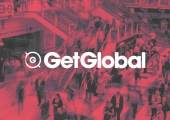 get global logo with crowd