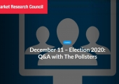 Market Research Council: Election Q+A