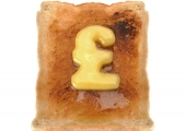 Toast with butter money